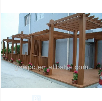 2017 hot sale!!Outdoor comfortable beautiful wpc garden pergola for leisure