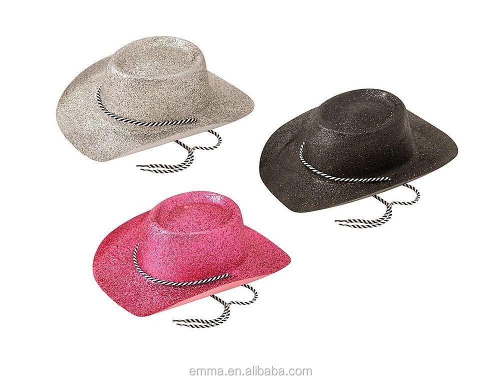 Sequin Adult Cowboy Hat White