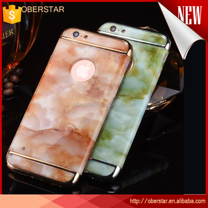 2016 luxury New Arrival Marble Protective Case for iPhone 7 metal 3in1 phone case cover