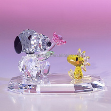 Lovely crystal craft, crystal animal, crystal valentine's gift