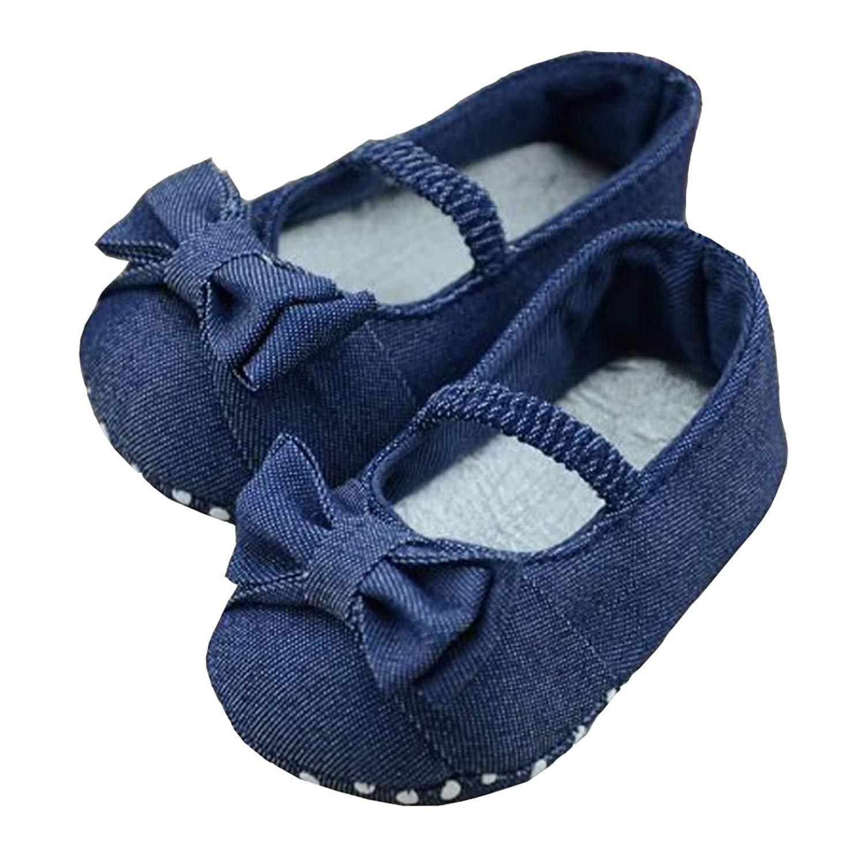 8f3cf07743fea Buy Morrivoe Baby Girls Soft Sole Bowknot Mary Jane Princess Dress ...