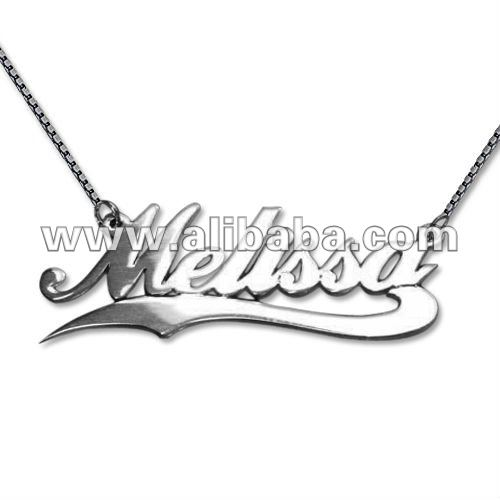 3d053acc1da29 Sterling Silver Melissa Name Necklace With Line - Buy Name Necklace Product  on Alibaba.com