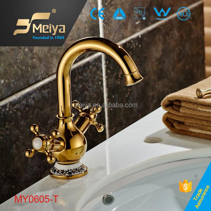 2015 di ceramica decorata oro vasca da bagno rubinetto doppio manico accessori da bagno colorati - Accessori bagno colorati ...