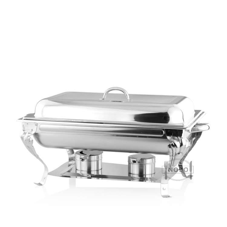 Rectangle stainless steel chaffing dish stove/indian chafing dish with fuel burner