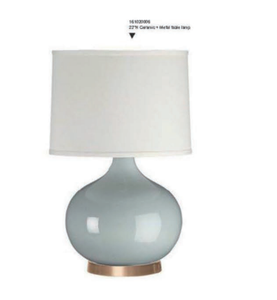 wholesale retro ceramic base table lamp for living room