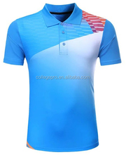 blue dry fit sublimated blank golf man polo shirt
