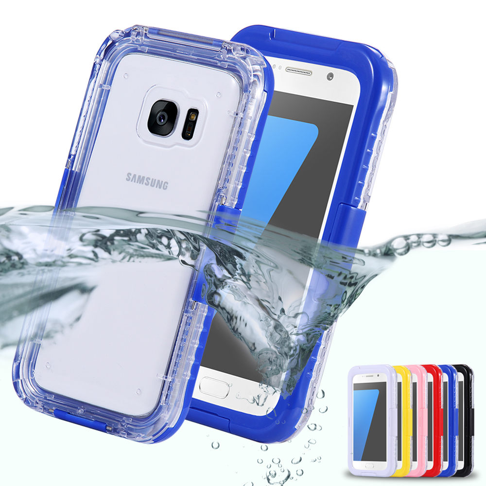 s7 s7edge waterproof swim diving waterproof case for samsung galaxy s7 s7 edge clear protective. Black Bedroom Furniture Sets. Home Design Ideas