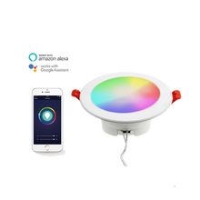 2018 RGB החכם Wifi + CCT led <span class=keywords><strong>downlight</strong></span> 10 w לעבוד עם אמזון Alexa/Google עוזר