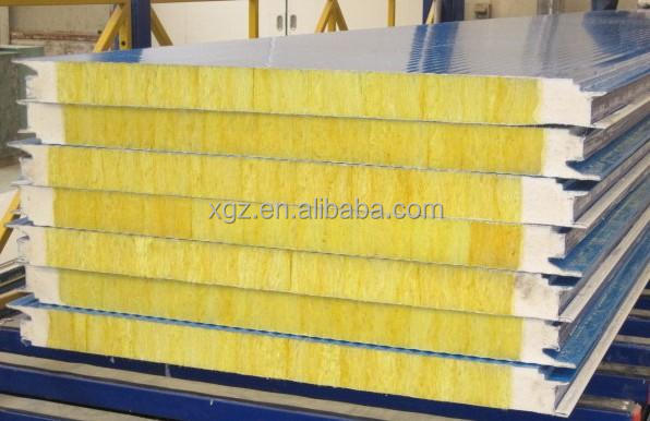 Glasswool sandwich panel for prefabricated house