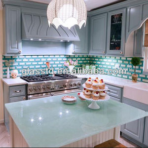 Contemporary glass lowes countertops