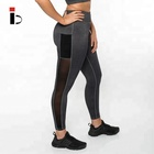Low MOQ Gym wear Dry fit customized leggings wholesale fitness apparel with pockets