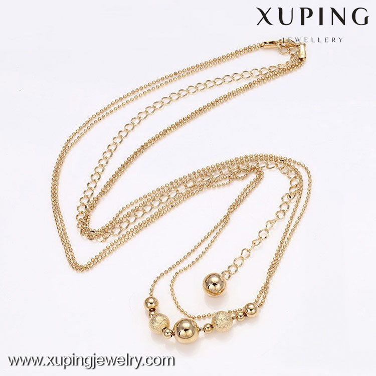 42062-Xuping Fashion18k Gold Plated Long Chain Necklace
