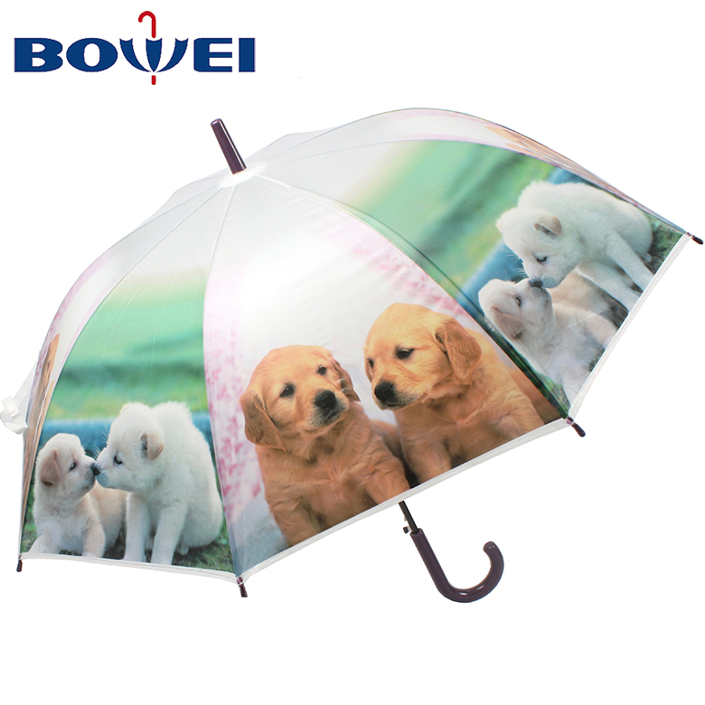 Custom Cute Golden Retriever Dog Compact Travel Windproof Rainproof Foldable Umbrella