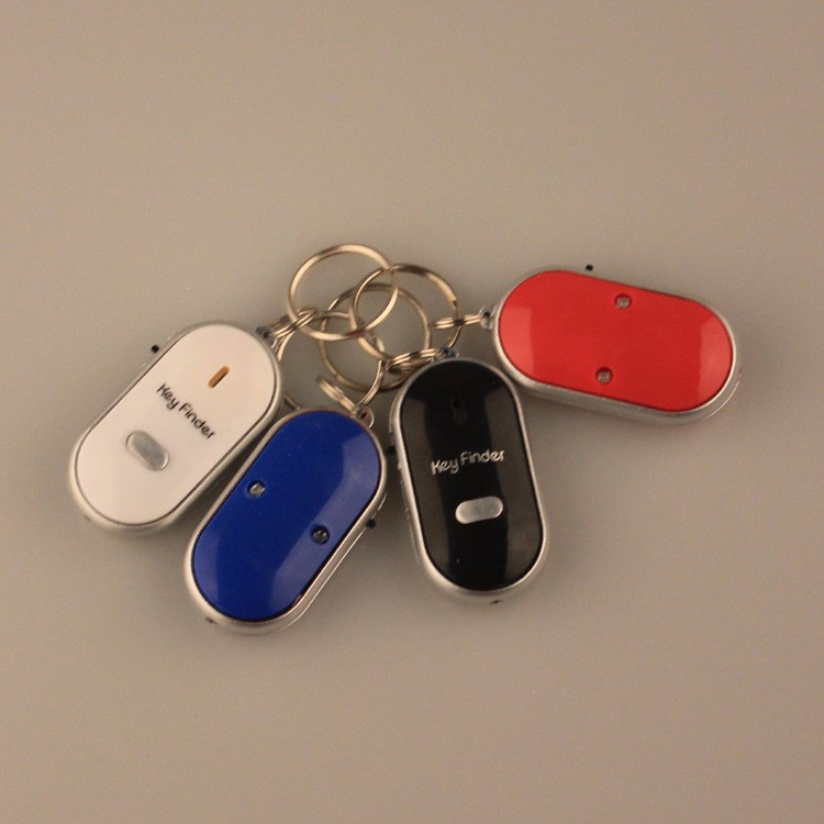 Anti-Lost Finder Sensor Alarm Whistle Key Finder LED Light With Keychain HighQuality Safely Security Just Whistle Listen Find it
