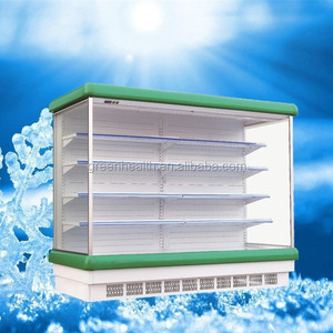 Plastic open chiller / supermarket open cooler /supermarket fan cooling muti deck freezing display showcase