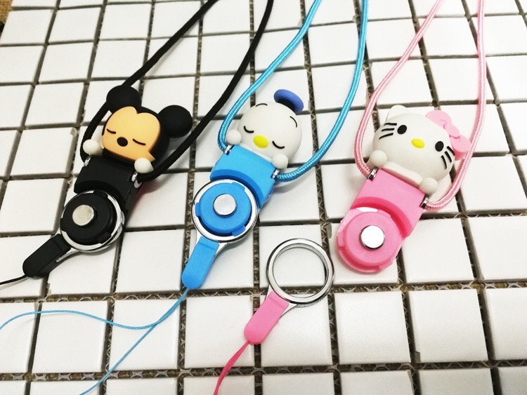 Lovely cartoon accessory creative two-in-one planking three-dimensional doll mobile phone rope
