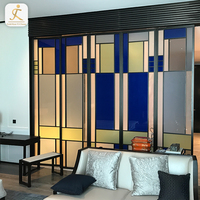 blue patchwork metal wall decorated board sus 304 316 waterproof wall boards stainless hotel fireproof decorative wall panel