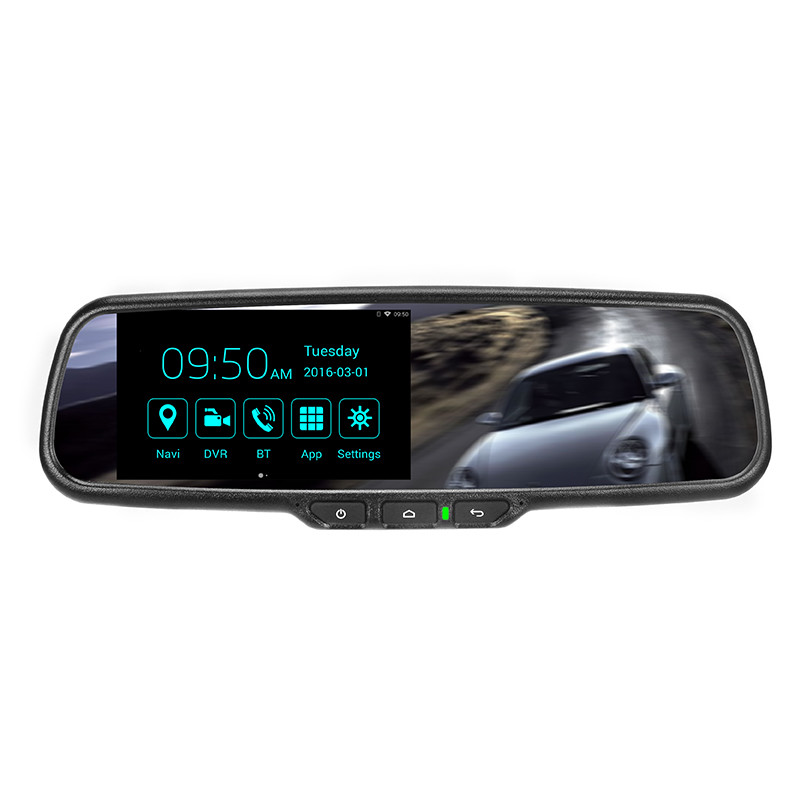 Latest 5.0 inch Android navigation car dash cams DVR with built-in lcd monitor Bluetooth rearview mirror