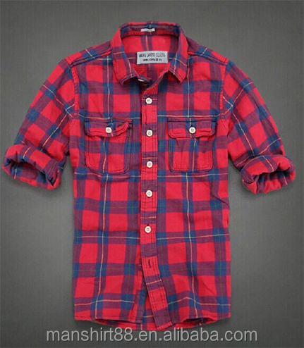 2017 Men's New Fashion Design Flannel Casual Shirt