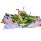 Custom Recycled Eco-friendly Cardboard Art Paper Children Animal Pop Up Book Printing