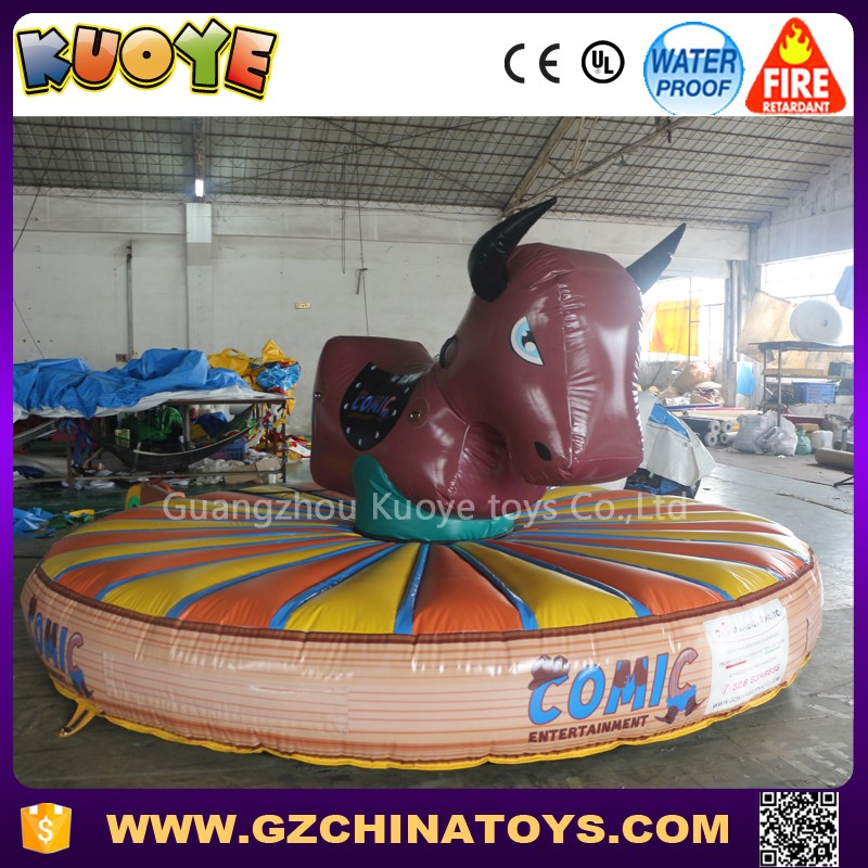 2017 inflatable bungee bull rideo game
