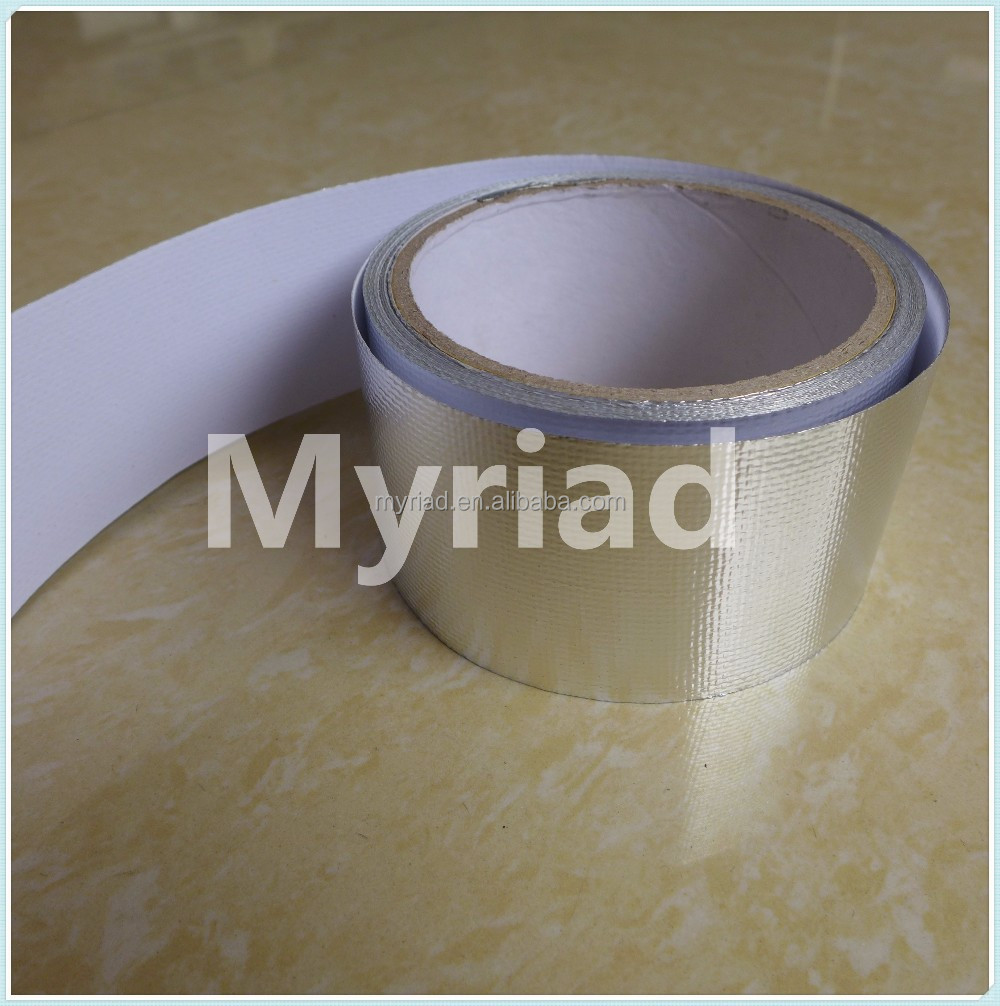 vapor barrier Aluminum foil tape,Reflective And Silver Roofing Material Aluminum Foil Faced Lamination