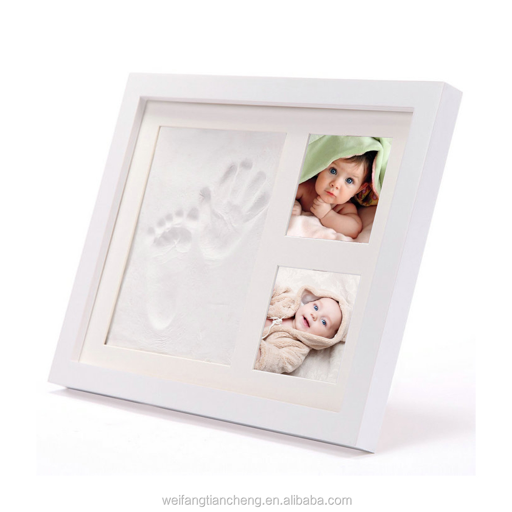 Baby Handprint Foot Clay Photo Frame / Baby Box Safety Kit Christmas Gift