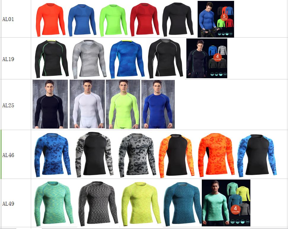 2017 Instyles Super Soft Men O-neck Sports Gym Blank Compression Shirts 13