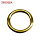 metal O ring for handbag matt brass color finish
