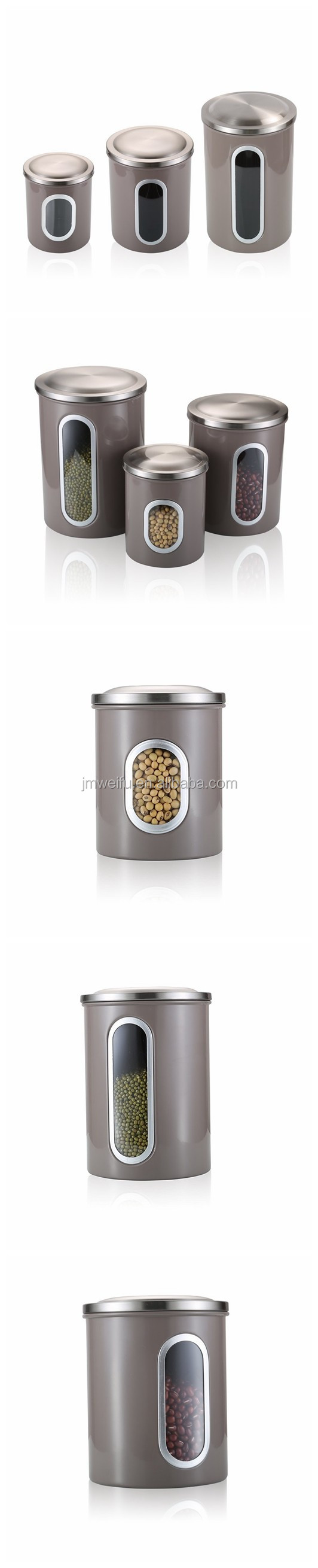 Home Stainless Steel Food Storage Containers set with Window