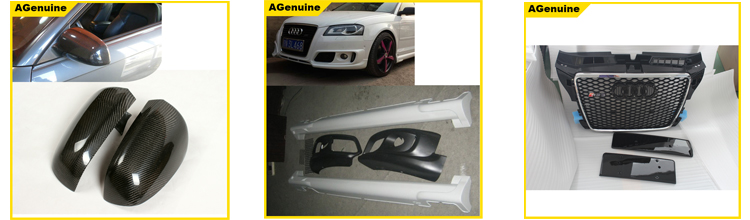 Custom back door shelter real carbon fiber rear spoiler roof spoiler wing for audi a3 hatchback