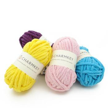 Space Dye Polyester Velvet Chenille Yarn For Knitting Scarf
