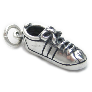 ancient antique silver sports custom shoe charm wholesale