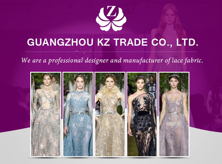 wholesale embroidery guipure small flower chiffon plain purple 3d butterfly lace embroidered fabric