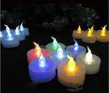 Romantic wedding decoration lights plastic battery operated dimmable tealight candles with timer