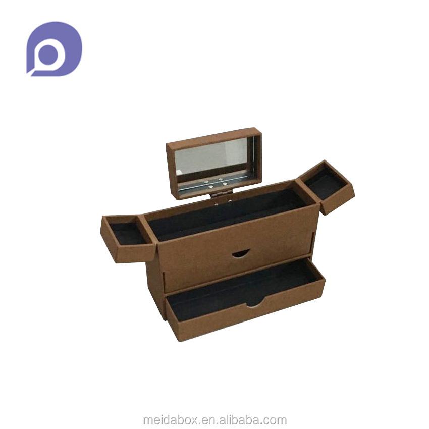 Desktop mode ontwerp organisator papier lade box met spiegel