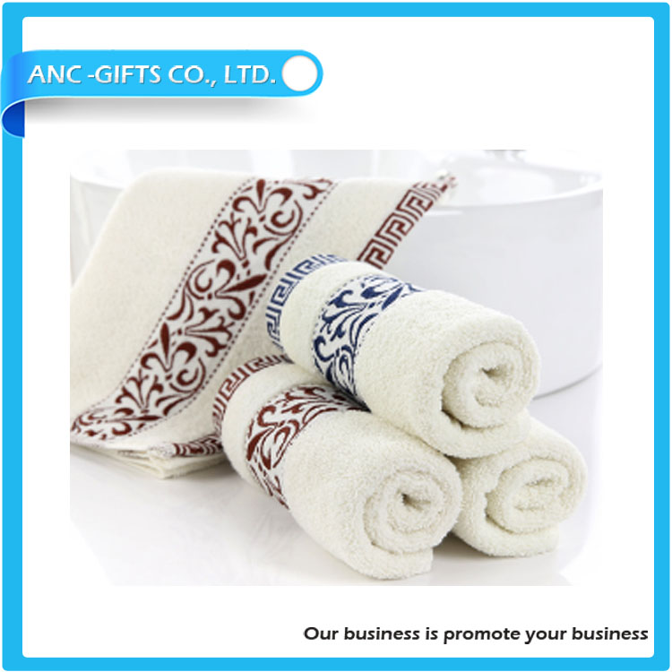 hotel cotton face promotional price China supplier cheap bath popular high quality good morning towel