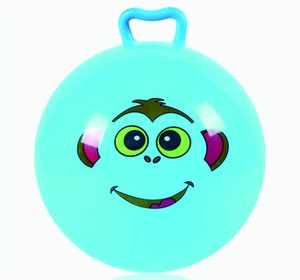 Label inflatable Ball for Kids Plastic Ball Soft Stress Emoj Face Toy Bal