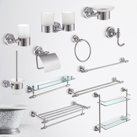 China Supplier Cabinet Bathroom Accessory 304 Stainless Steel Bathroom Set