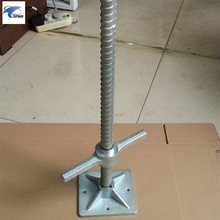 Construction Thread rod jack base material small scaffolding part solid screw jack