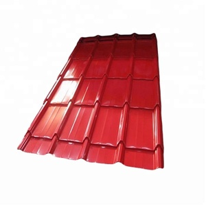 china galvanized glazed metal roof tile/26 gauge smp metal roofing