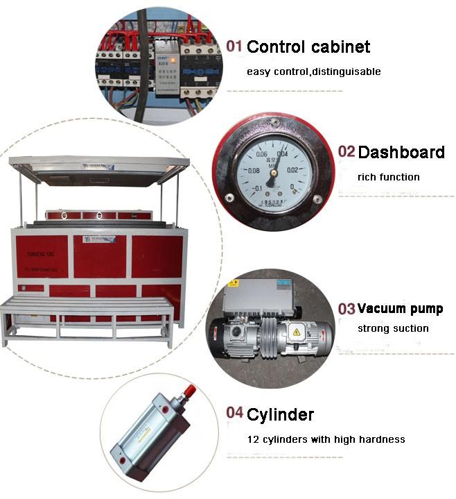 Automático pequeno plástico acrílico policarbonato eps máquina de termoformagem a vácuo