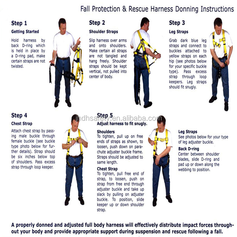 High Quality Fall Protection Full Body Safety Harness With