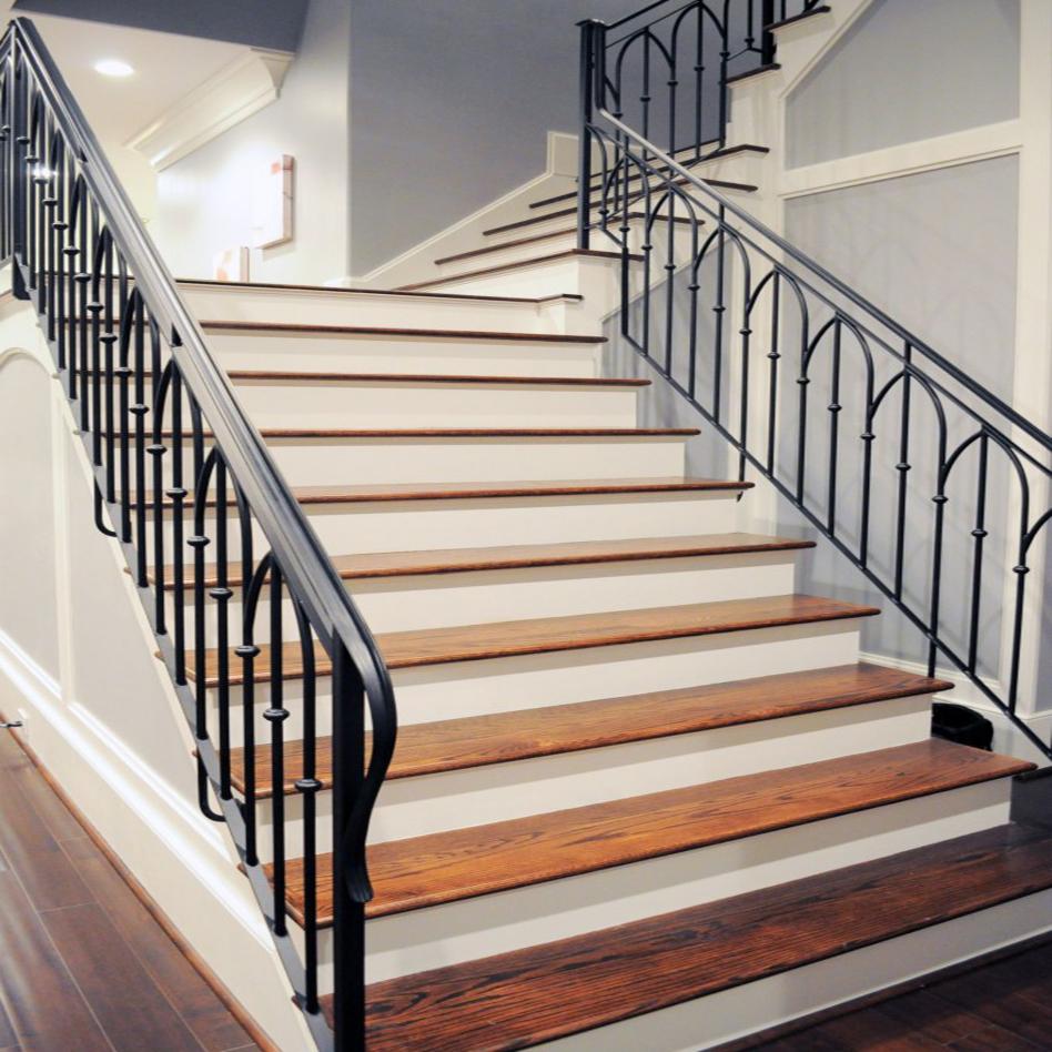 арсенале опытного фото перил для лестниц самих строительных