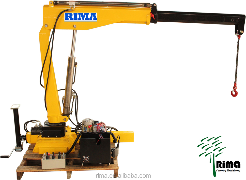 The Hydraulic Crane Is Used To Lift The 1400 : Macaco hidr?ulico ton booms de dobramento pequena