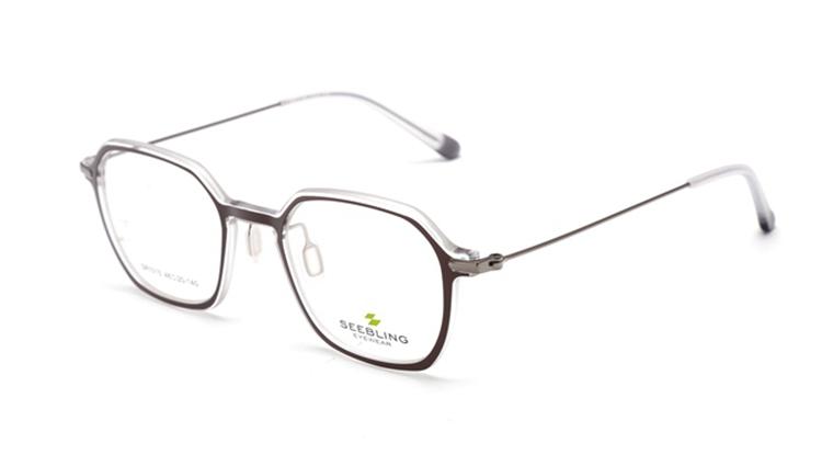 Monture de lunettes de luxe pour femmes, nouveau design, fait à la main, montures optiques en métal à la mode 2018