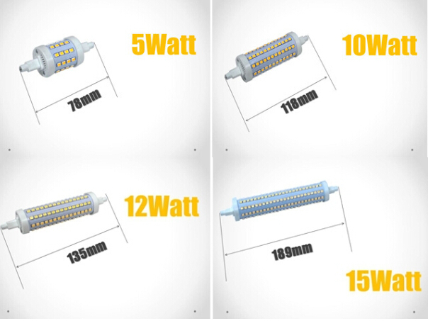 R7s led 8cm r7s 78mm led 15w high quality 118mm led r7s for Led r7s 78mm 20w
