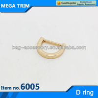 design metal ring No.6005 practical D shape buckle ornament with fashion style