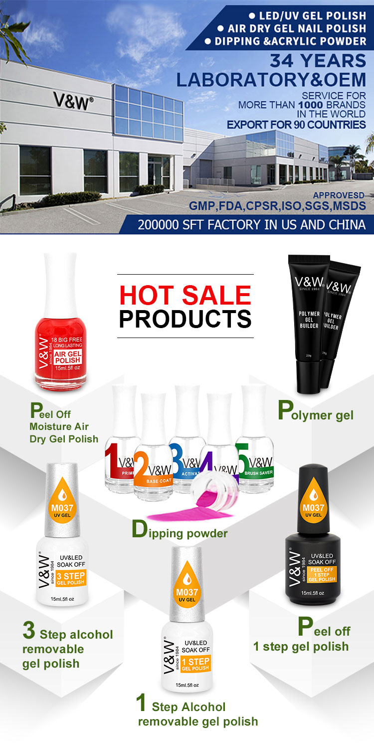 China Vw Best Quality Nail Color Dipping Acrylic Powder