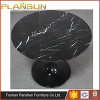 Various Dimentions High quality fiberglass base marble top dining table